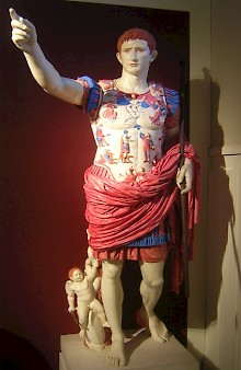 Reconstruction of the statue of Augustus from Primaporta