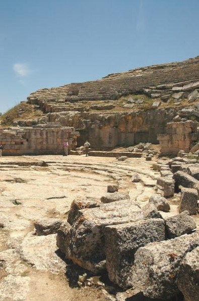 Cyrene's theater, restored in the Roman age