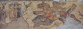 Hunting: mosaic from the Eastern Basilica in Cyrene