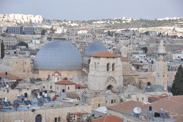 Jerusalem, Basilica of the Holy Sepulchre, from SW