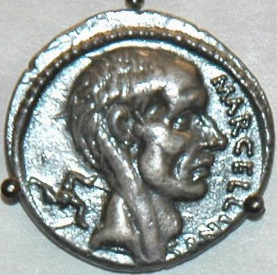 Portrait of Marcellus on a coin minted by one of his descendants