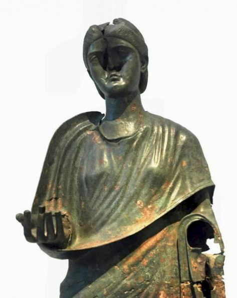 Statue of Julia Aquilia Severa, damaged after her death.