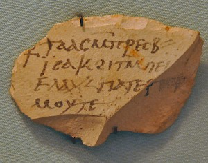 Ostracon from Egyptian Thebes