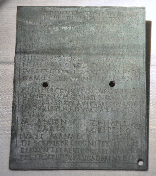 Diploma of an Isaurian soldier named Lualis, from Weissenburg (Germany)