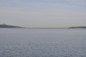 The Hellespont between Sestus (R) and Abydus (L).