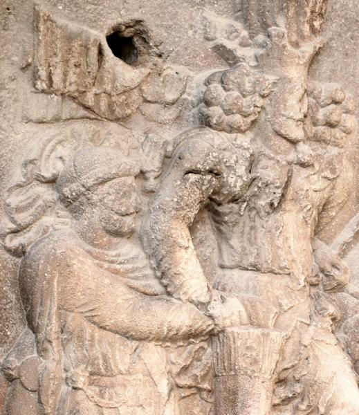 Bishapur, Relief 2, Shapur and the captive emperor Valerian