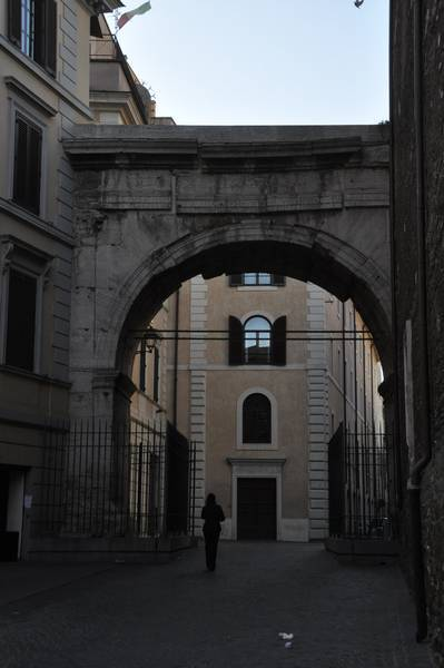 Rome, Arch of Gallienus, from the east