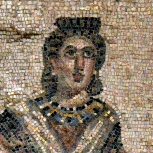 Mosaic from Piazza Armerina, believed to represent Eutropia