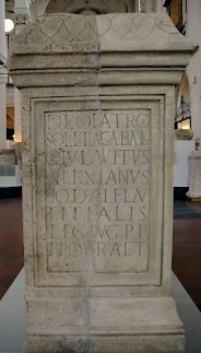 Alexianus' dedication to Elagabal