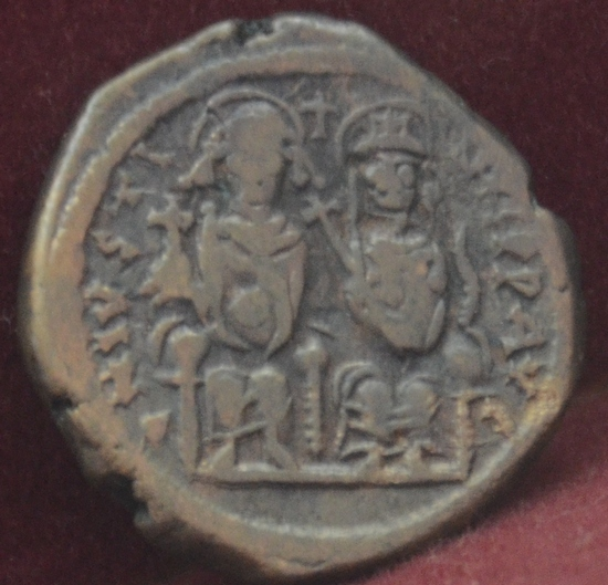 Justin II and Sophia, coin