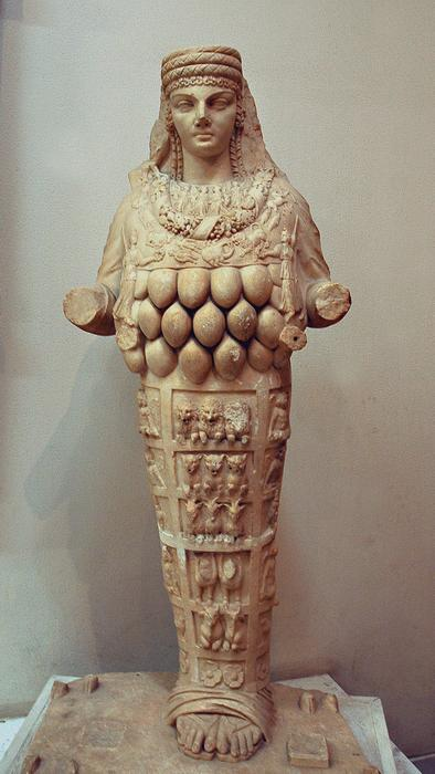 Artemis of Ephesus. Statue from the Amphitheater of  Lepcis Magna.