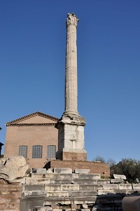 The Column of Phocas on the Roman forum
