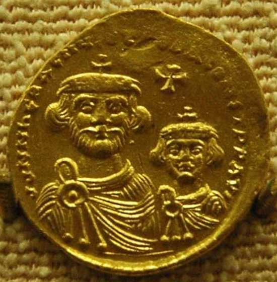Heraclius and his son Constantine III, coin