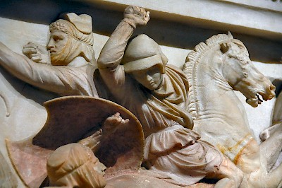 Detail of the Alexander sarcophagus, probably Hephaestion