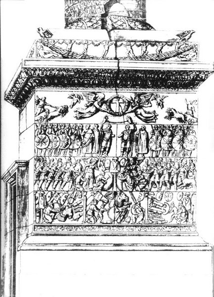 Column of Arcadius, drawing pedestal