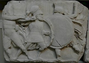 Hoplites on the Monument of the Nereids from Xanthus