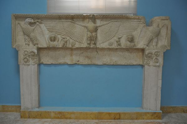 Lintel from the temple of Baal Shemem. Museum of Palmyra (Syria).