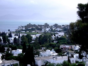 The ports of Carthage, seen from the north