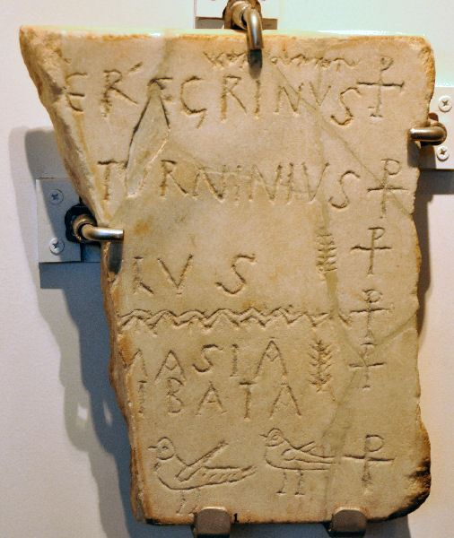Carthage, Christian tombstone
