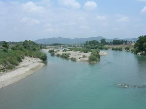 The river Eurymedon, south of Aspendus