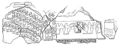 Drawing of the Kurangun rock relief