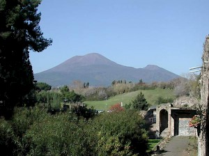 The Vesuvius, seen from Pompeii