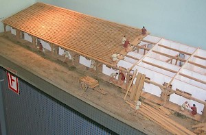 Haltern, model of the barracks