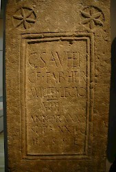 Tombstone of Gaius Saufeius from Lincoln