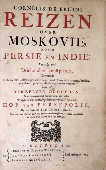 "Frontispiece of ""Reizen over Moskovië"" (second edition)"