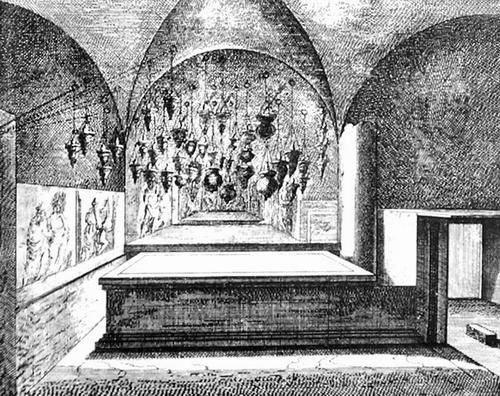 Jerusalem, Basilica of the Holy Sepulchre, Drawing by De Bruijn