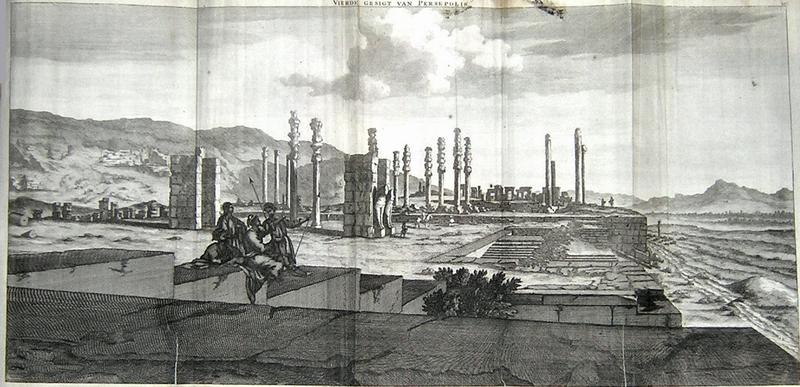 Persepolis, Stairs and Gate of All Nations (drawing by Cornelis de Bruijn)