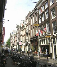 The Hartenstraat in Amsterdam. De Bruijn's house cannot be identified.
