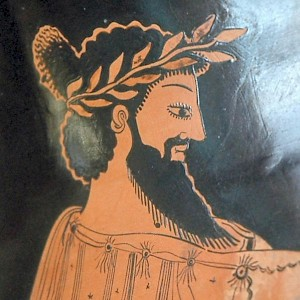 Head of Croesus on a Greek vase