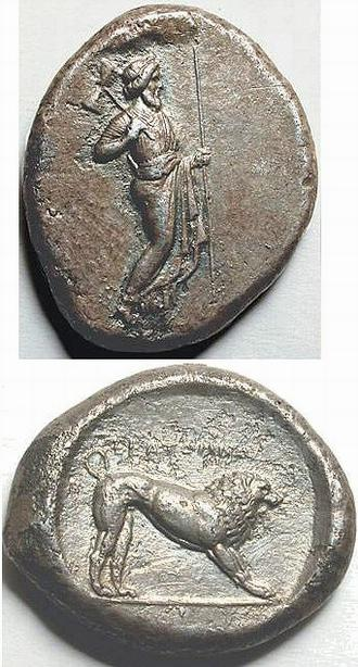 Hecatomnus, coin
