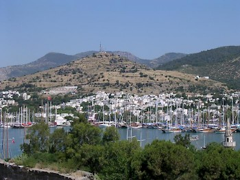 Theater hill (citadel), seen from Bodrum castle