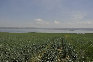 Aigospotamoi, seen from the European side; Lampsacus across the Hellespont