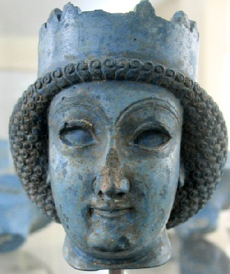 Achaemenid woman (or a beardless prince). Archaeological Museum, Tehran (Iran).