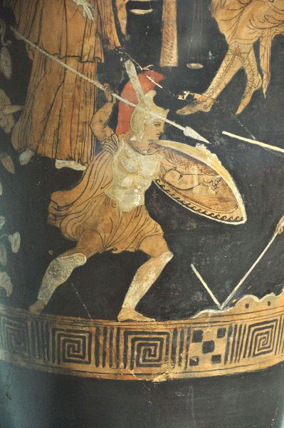 Achilles fighting against Memnon. Rijksmuseum van oudheden, Leiden (Netherlands)