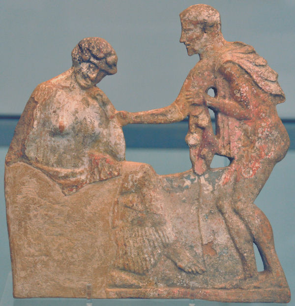Meeting of Odysseus and Penelope. Antikensammlung, München (Germany)