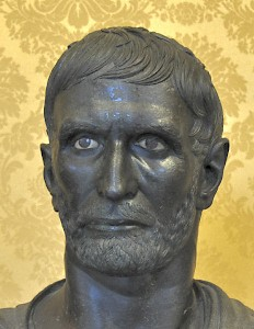 The so-called Brutus, a bust from the second century BCE, long believed to be the founder of the Roman republic but in fact an ancestor of the emperor Augustus