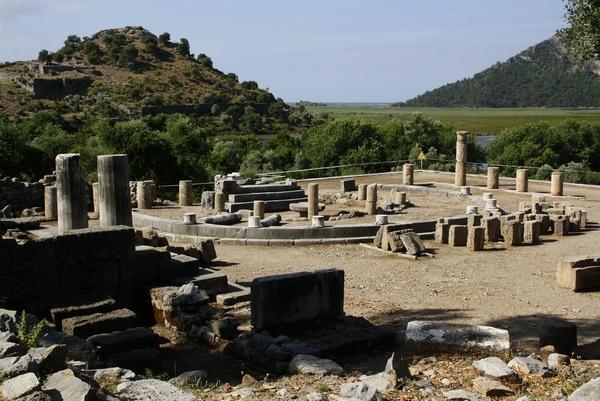 Kaunos, terrace sanctuary - Livius