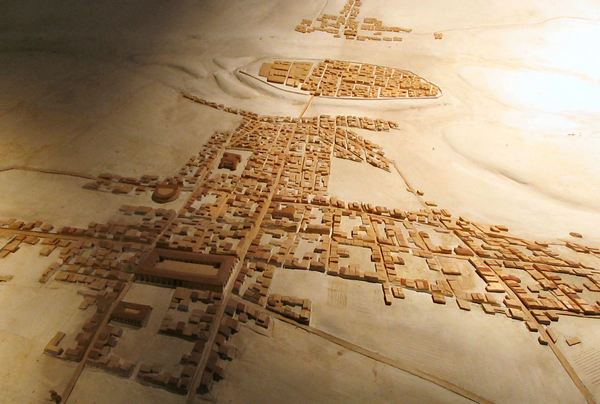 Model of Roman Lutetia, seen from the south