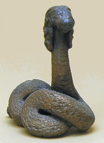 Athens, Agora, Statuette of Glykon the Snake God