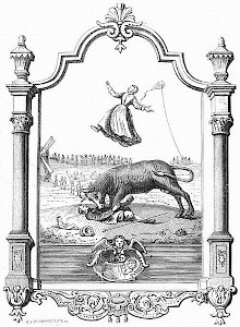 Seventeenth-century engraving, showing the story of the Bull of Zaandam