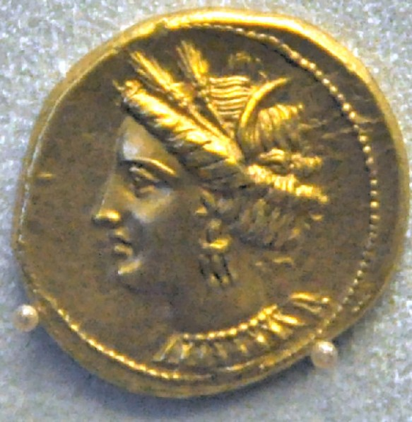 Tanit on a Carthaginian coin