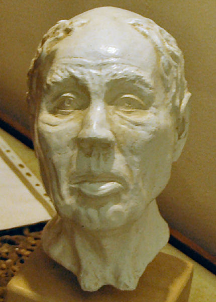 Facial reconstruction of the man buried in Gordium's Great Tumulus. Museum of Anatolian Civilizations, Ankara (Turkey)