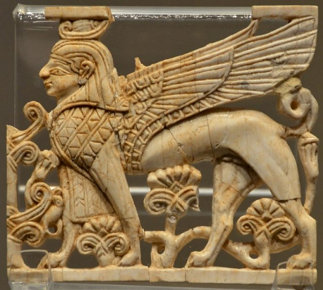 Ivory sphinx from Carthage, made in Phoenicia