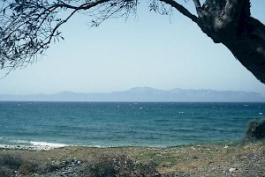 The beach at Cape Artemisium. Magnesia in the distance.