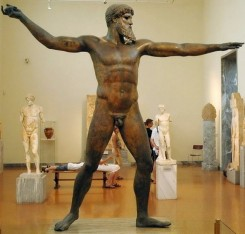 The Zeus of Artemisium. National Archaeological Museum, Athens (Greece)
