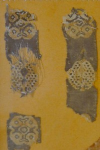 Textile fragments from Zenobia.  Museum of Deir ez-Zor (Syria)